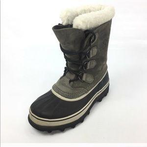 SOREL gray caribou winter boots
